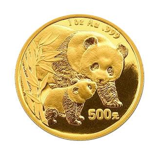 Chinese Gold Panda 1 Ounce 2004