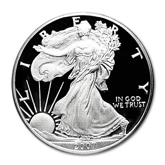 Proof Silver Eagle 2007-W