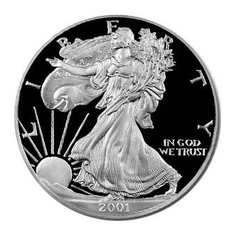 Proof Silver Eagle 2001-W