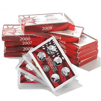 Complete Set US Proof Sets 1999-2016 Silver (18 sets)
