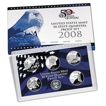 US Proof Set 2008 5pc (Quarters Only)