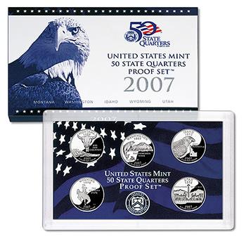 US Proof Set 2007 5pc (Quarters Only)