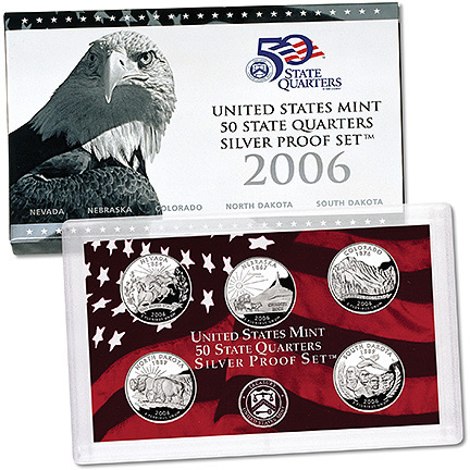 US Proof Set 2006 5pc Silver (Quarters Only)