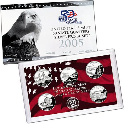 US Proof Set 2005 5pc Silver (QuartersOnly)