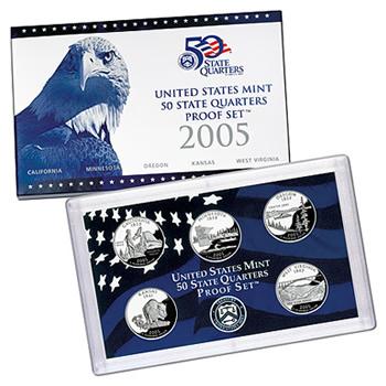 US Proof Set 2005 5pc (QuartersOnly)
