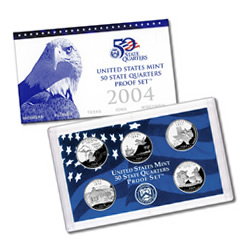 US Proof Set 2004 5pc (Quarters Only)