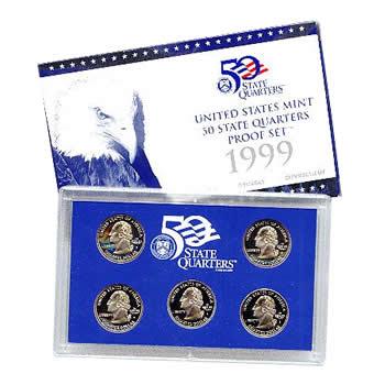 US Proof Set 1999 5pc (Quarters Only)