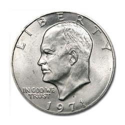 Eisenhower Dollar 1971-S 40% Silver BU