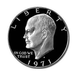 Eisenhower Dollar 1971-S Silver Proof