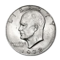 Eisenhower Dollar 1972 BU
