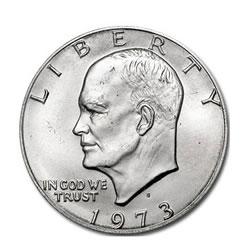 Eisenhower Dollar 1973-S Silver BU