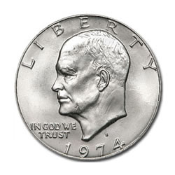 Eisenhower Dollar 1974-S Silver BU