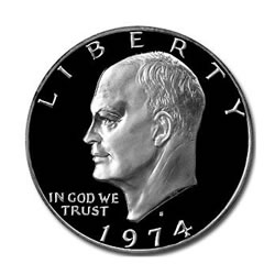 Eisenhower Dollar 1974-S Silver Proof