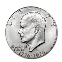 Eisenhower Dollar 1976-S Silver BU