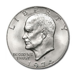 Eisenhower Dollar 1974-D BU