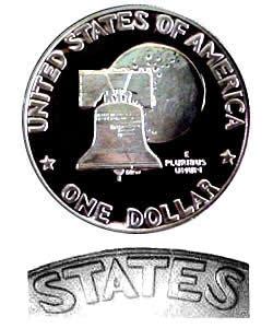 Eisenhower Dollar 1976-S Clad Proof Type 1