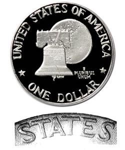 Eisenhower Dollar 1976-S Clad Proof Type 2