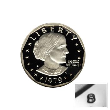 Susan B Anthony Dollar 1979-S Proof Type 1