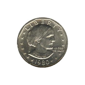 Susan B Anthony Dollar 1980-P BU