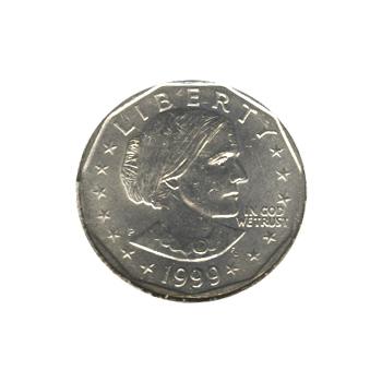 Susan B Anthony Dollar 1999-P BU