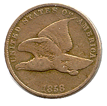 Flying Eagle Cent 1858 Small Letters Good