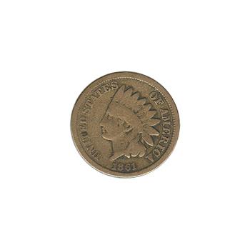 Indian Head Cent 1861 G-VG