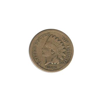Indian Head Cent 1862 G-VG