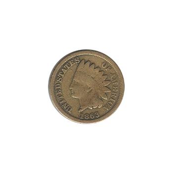 Indian Head Cent 1863 G-VG