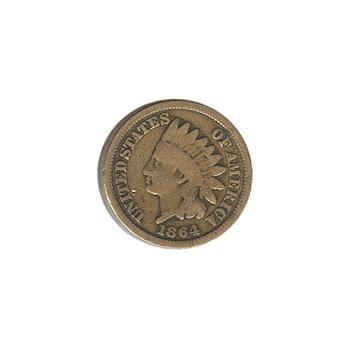 Indian Head Cent 1864 CN G-VG