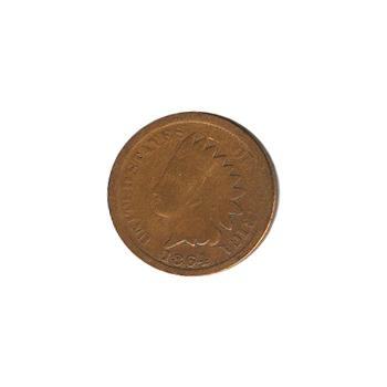 Indian Head Cent 1864 BZ G-VG
