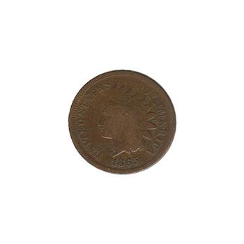 Indian Head Cent 1865 G-VG