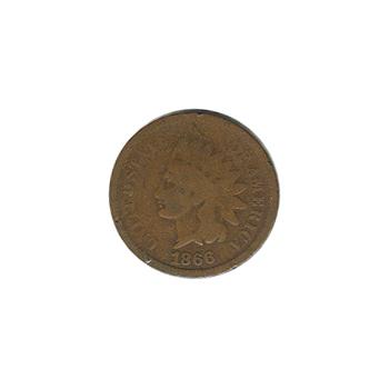 Indian Head Cent 1866 G-VG