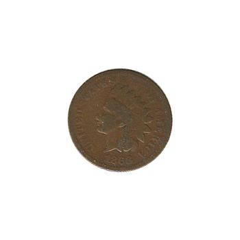 Indian Head Cent 1868 G-VG