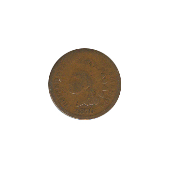 Indian Head Cent 1870 G-VG