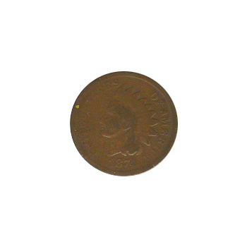 Indian Head Cent 1874 G-VG