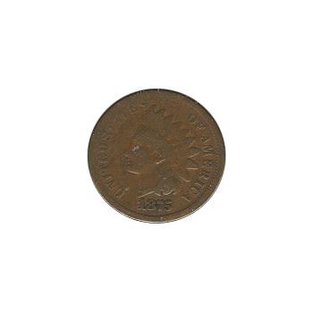 Indian Head Cent 1875 G-VG