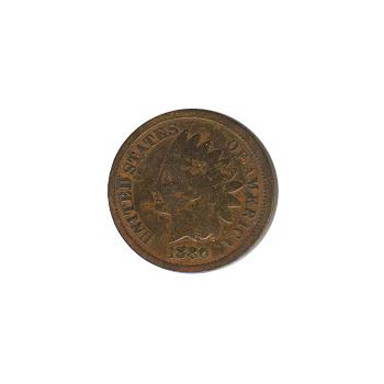 Indian Head Cent 1880 G-VG
