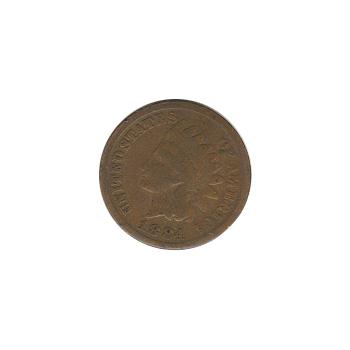 Indian Head Cent 1884 G-VG