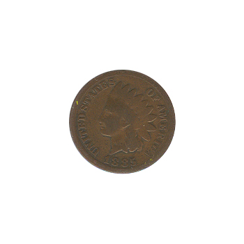 Indian Head Cent 1885 G-VG