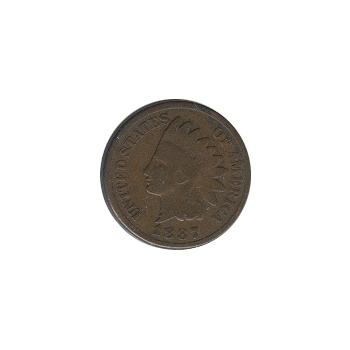 Indian Head Cent 1887 G-VG