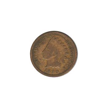 Indian Head Cent 1890 G-VG