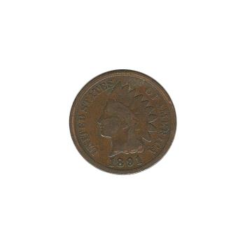 Indian Head Cent 1891 G-VG