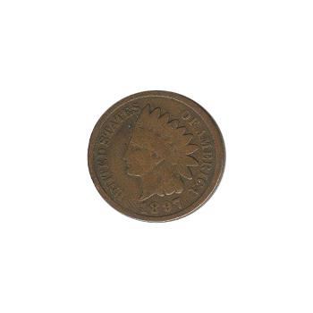 Indian Head Cent 1897 G-VG