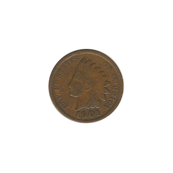 Indian Head Cent 1901 G-VG