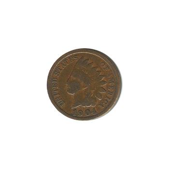 Indian Head Cent 1904 G-VG