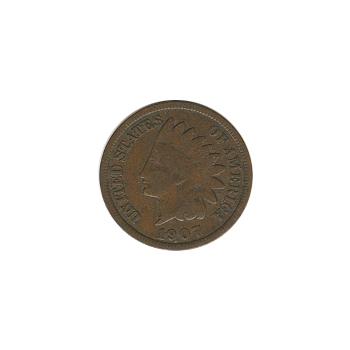 Indian Head Cent 1907 G-VG