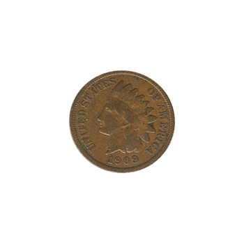 Indian Head Cent 1909-S G-VG
