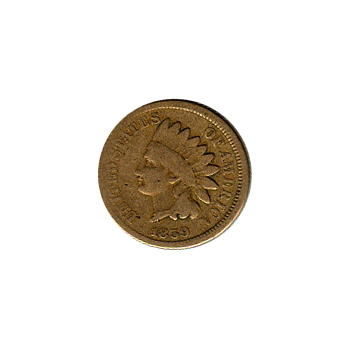 Indian Head Cent 1859 G-VG