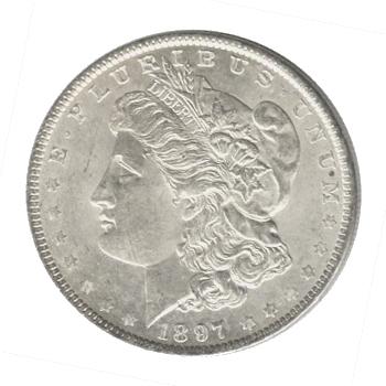Morgan Silver Dollar Uncirculated 1897-S