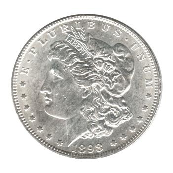 Morgan Silver Dollar Uncirculated 1898-S